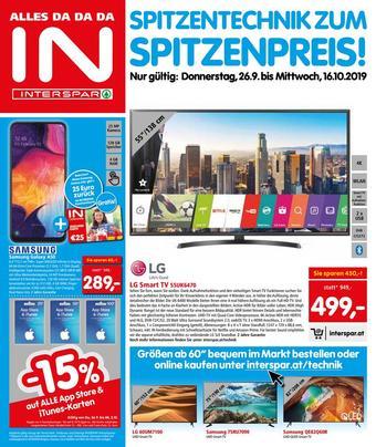 Interspar Werbeflugblatt (bis einschl. 16-10)