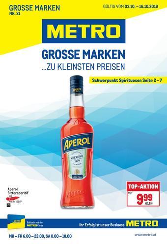 Metro Werbeflugblatt (bis einschl. 16-10)