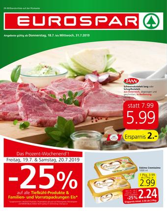 Eurospar Werbeflugblatt (bis einschl. 31-07)