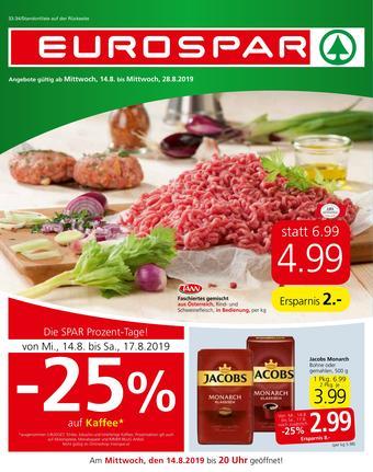 Eurospar Werbeflugblatt (bis einschl. 28-08)