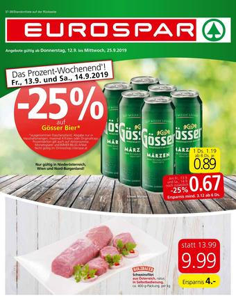 Eurospar Werbeflugblatt (bis einschl. 25-09)