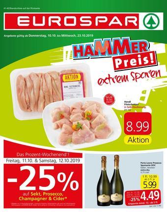 Eurospar Werbeflugblatt (bis einschl. 23-10)
