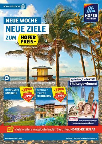 Hofer Reisen Werbeflugblatt (bis einschl. 20-08)