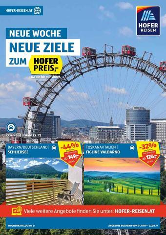Hofer Reisen Werbeflugblatt (bis einschl. 27-08)