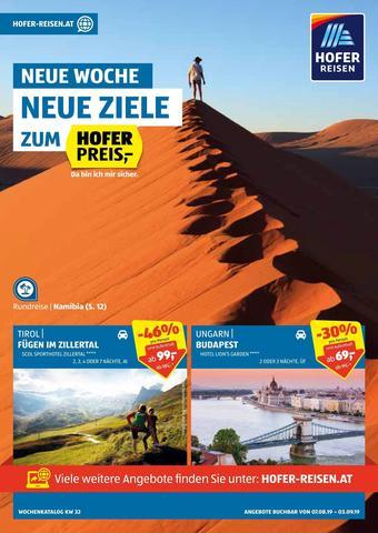 Hofer Reisen Werbeflugblatt (bis einschl. 03-09)