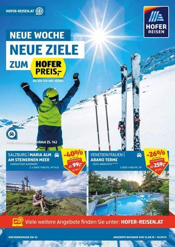 Hofer Reisen Werbeflugblatt (bis einschl. 10-09)
