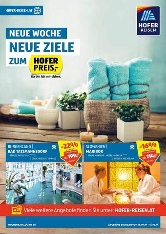 Hofer Reisen Werbeflugblatt (bis einschl. 15-10)