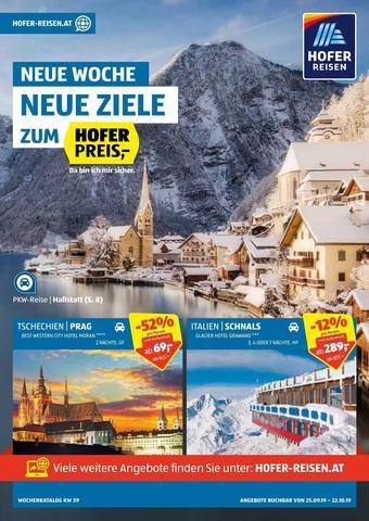 Hofer Reisen Werbeflugblatt (bis einschl. 22-10)