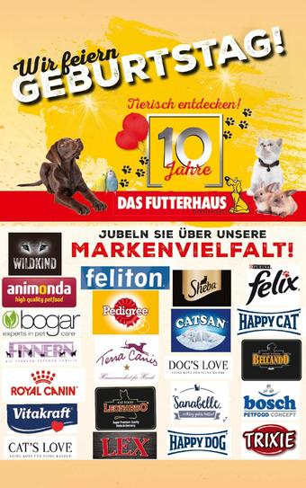 Das Futterhaus Werbeflugblatt (bis einschl. 25-05)