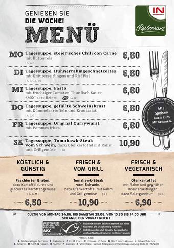 Interspar Restaurant Werbeflugblatt (bis einschl. 29-06)