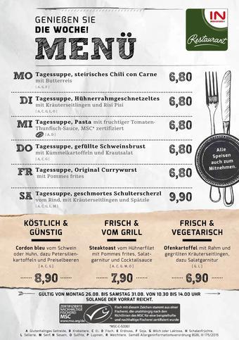Interspar Restaurant Werbeflugblatt (bis einschl. 31-08)