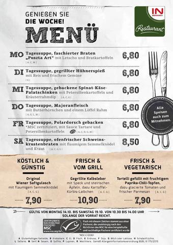 Interspar Restaurant Werbeflugblatt (bis einschl. 19-10)