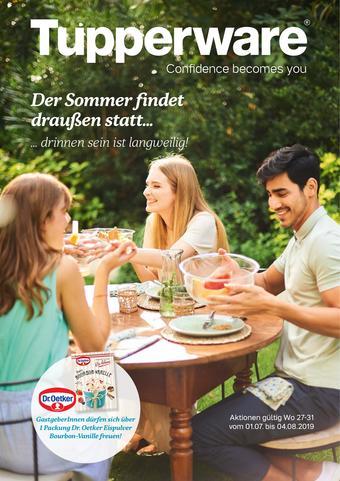 Tupperware Werbeflugblatt (bis einschl. 04-08)