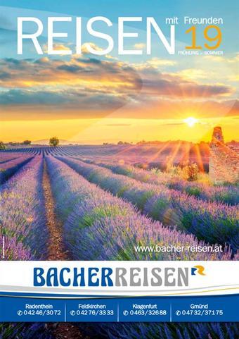 Bacher Reisen Werbeflugblatt (bis einschl. 21-09)