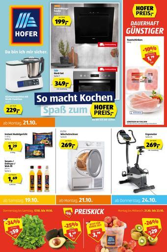 Hofer Werbeflugblatt (bis einschl. 26-10)