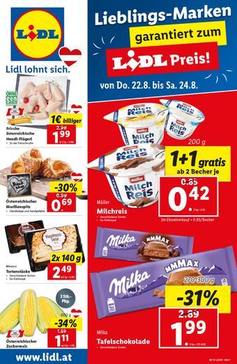 Lidl Werbeflugblatt (bis einschl. 28-08)