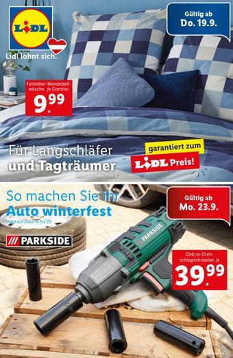 Lidl Werbeflugblatt (bis einschl. 25-09)