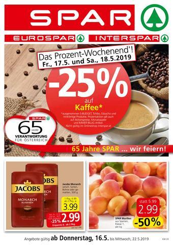 Spar Werbeflugblatt (bis einschl. 22-05)