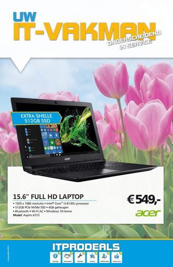 De ICT Vakman reclame folder (geldig t/m 30-09)
