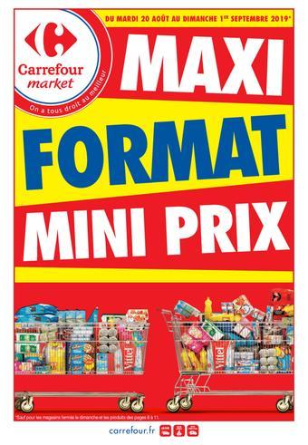 Carrefour Market catalogue publicitaire (valable jusqu'au 01-09)