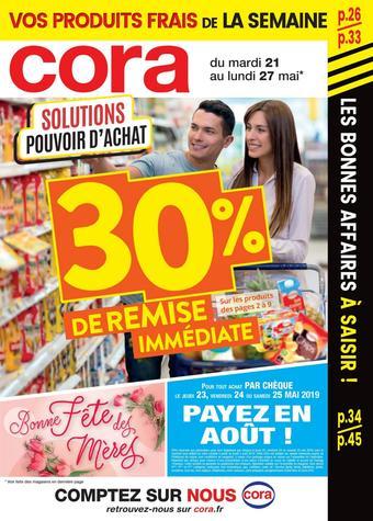 Cora catalogue publicitaire (valable jusqu'au 27-05)