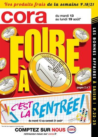 Cora catalogue publicitaire (valable jusqu'au 19-08)