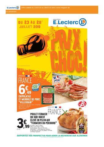 E.Leclerc catalogue publicitaire (valable jusqu'au 28-07)