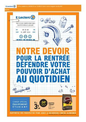 E.Leclerc catalogue publicitaire (valable jusqu'au 31-08)