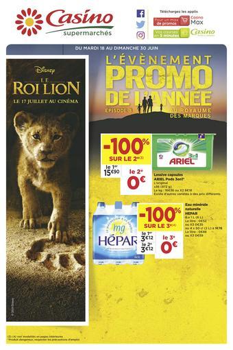 Casino Supermarchés catalogue publicitaire (valable jusqu'au 30-06)