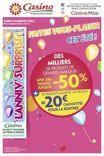 Casino Supermarchés catalogue publicitaire (valable jusqu'au 04-08)