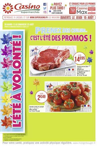 Casino Supermarchés catalogue publicitaire (valable jusqu'au 25-08)