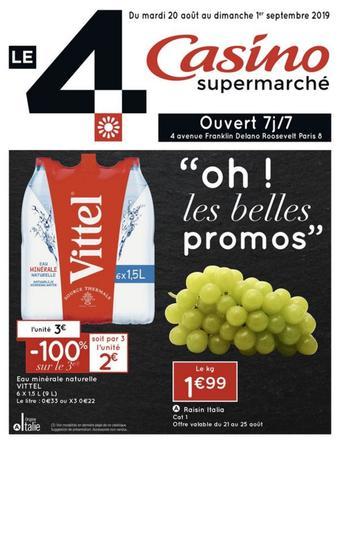 Casino Supermarchés catalogue publicitaire (valable jusqu'au 01-09)