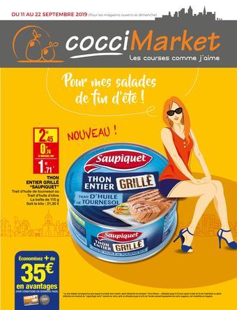 Coccimarket catalogue publicitaire (valable jusqu'au 22-09)