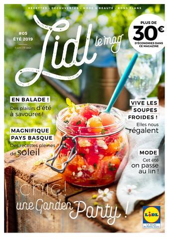 Lidl catalogue publicitaire (valable jusqu'au 31-08)