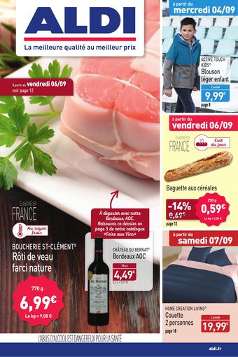 ALDI catalogue publicitaire (valable jusqu'au 08-09)