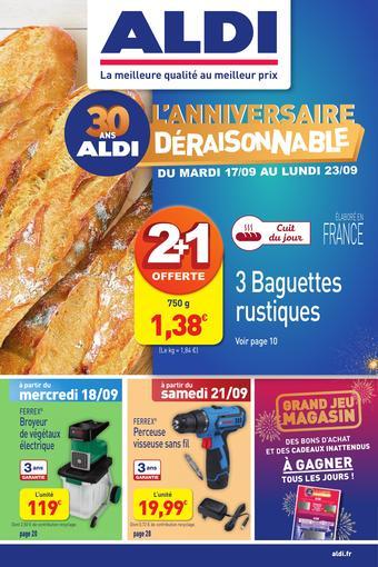 ALDI catalogue publicitaire (valable jusqu'au 22-09)
