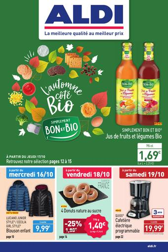 ALDI catalogue publicitaire (valable jusqu'au 20-10)