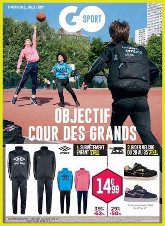 Go Sport catalogue publicitaire (valable jusqu'au 09-09)