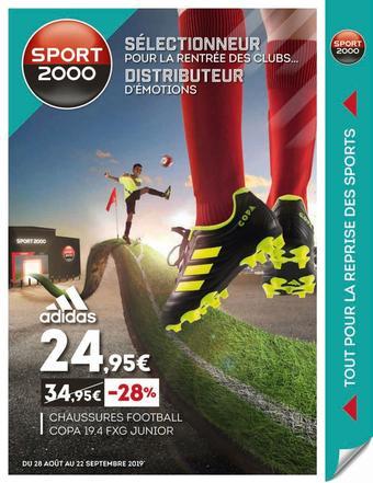 Sport 2000 catalogue publicitaire (valable jusqu'au 22-09)
