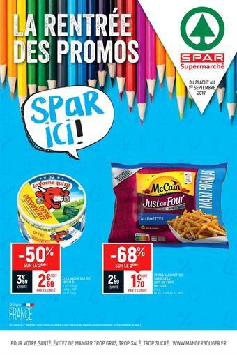 Spar catalogue publicitaire (valable jusqu'au 01-09)