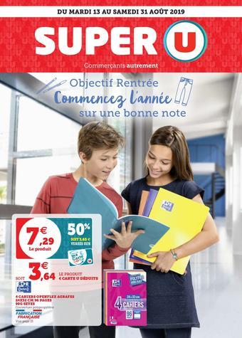 Super U catalogue publicitaire (valable jusqu'au 31-08)