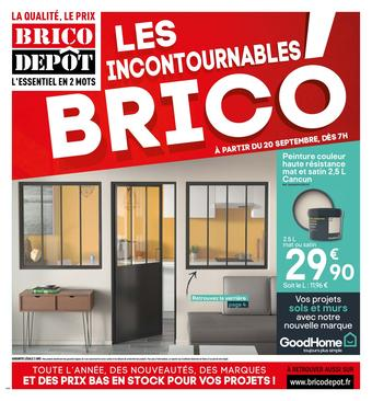 Brico Dépôt catalogue publicitaire (valable jusqu'au 03-10)