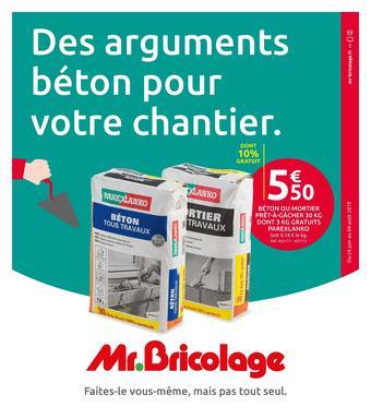Mr Bricolage catalogue publicitaire (valable jusqu'au 04-08)