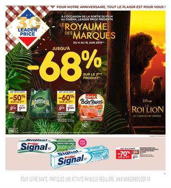 Leader Price catalogue publicitaire (valable jusqu'au 16-06)