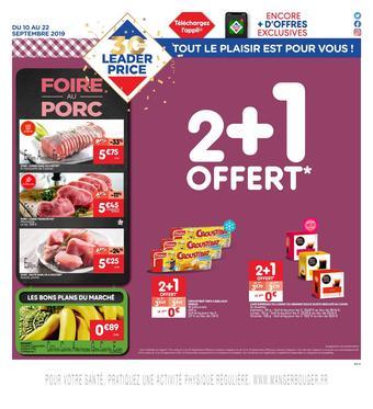 Leader Price catalogue publicitaire (valable jusqu'au 22-09)