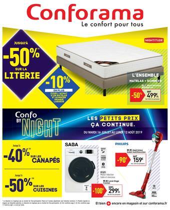 Conforama catalogue publicitaire (valable jusqu'au 12-08)