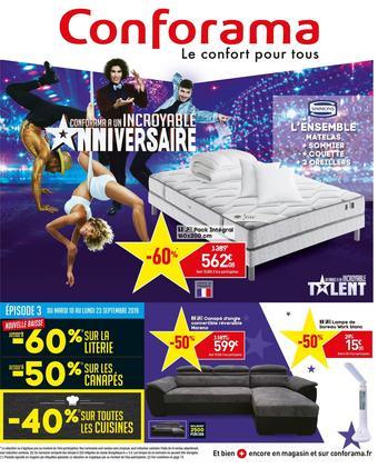 Conforama catalogue publicitaire (valable jusqu'au 23-09)
