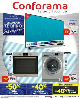 Conforama catalogue publicitaire (valable jusqu'au 21-10)