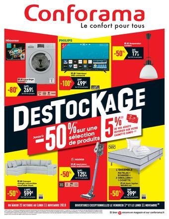 Conforama catalogue publicitaire (valable jusqu'au 11-11)
