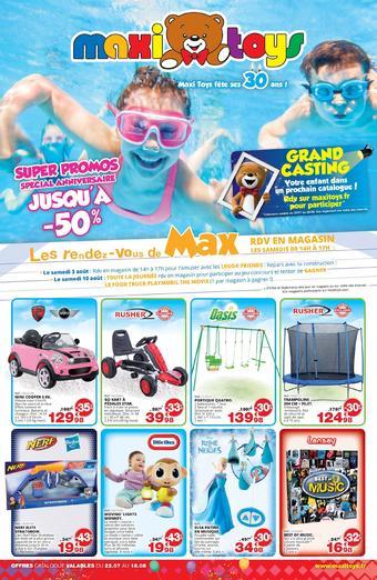 Maxi Toys catalogue publicitaire (valable jusqu'au 18-08)